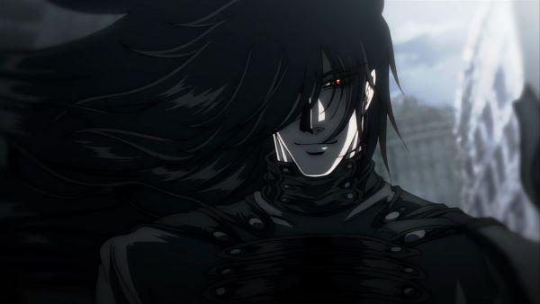 Tags: Anime, HELLSING, Alucard (Hellsing), Black, Dracula, Hellsing Ultimate, Screenshot, Wallpaper