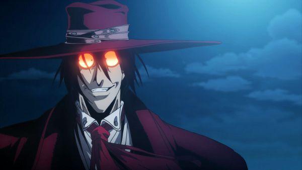 Tags: Anime, HELLSING, Alucard (Hellsing), Hellsing Ultimate, Fedora, Screenshot, Wallpaper