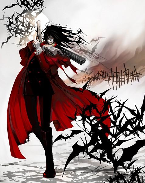 Tags: Anime, Haru Shikazumi, HELLSING, Alucard (Hellsing), Graveyard, Fanart, Pixiv