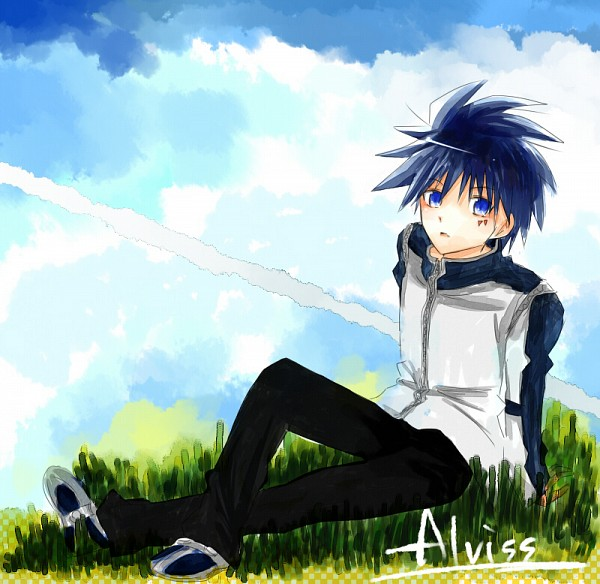 Tags: Anime, Pixiv Id 1466803, MÄR, Alviss, Sitting On Grass
