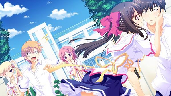 Tags: Anime, PeasSoft, Ama Ane, Takashina Tomoyuki, Yashima Daisuke, Yashima Otome, Takashina Natsumi, Imasato Makoto, Wallpaper, CG Art
