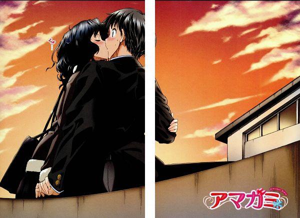 Tags: Anime, Shinonome Taro, Amagami, Tachibana Junichi, Tanamachi Kaoru, Scan, Manga Page, Official Art