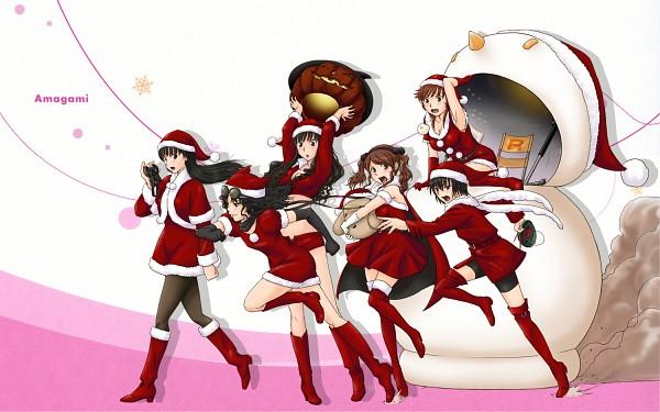 Tags: Anime, Osomatu-sama, Amagami, Tanamachi Kaoru, Nanasaki Ai, Sakurai Rihoko, Nakata Sae, Ayatsuji Tsukasa, Morishima Haruka, Holding Mask, Desperate, Chasing, Pixiv