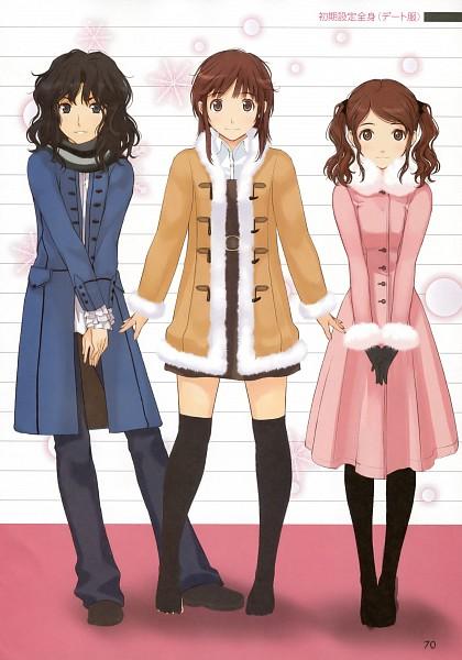 Tags: Anime, Takayama Kisai, Amagami, Tanamachi Kaoru, Sakurai Rihoko, Nakata Sae, Mobile Wallpaper, Official Art