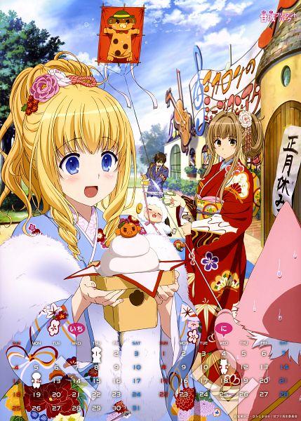 Tags: Anime, Kyoto Animation, Amagi Brilliant Park, Amagi Brilliant Park 2015 Calendar, Kanie Seiya, Tiramie (Amagi Brilliant Park), Sento Isuzu, Macaron (Amagi Brilliant Park), Latifa Fleuranza, Moffle (Amagi Brilliant Park), Official Art, Scan, Calendar 2015