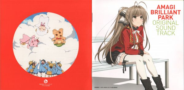 Tags: Anime, Kyoto Animation, Amagi Brilliant Park, Tiramie (Amagi Brilliant Park), Macaron (Amagi Brilliant Park), Moffle (Amagi Brilliant Park), Sento Isuzu, Official Art, Scan, CD (Source)