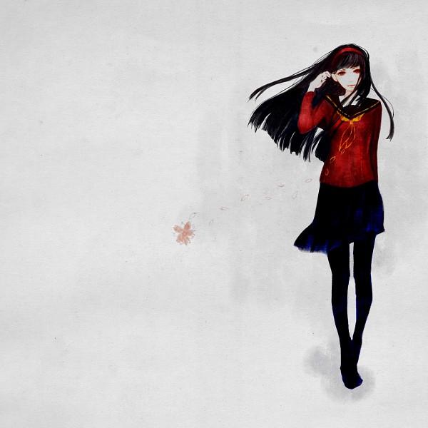 Tags: Anime, Ku8, Shin Megami Tensei: PERSONA 4, Amagi Yukiko, Pixiv, PNG Conversion, Fanart