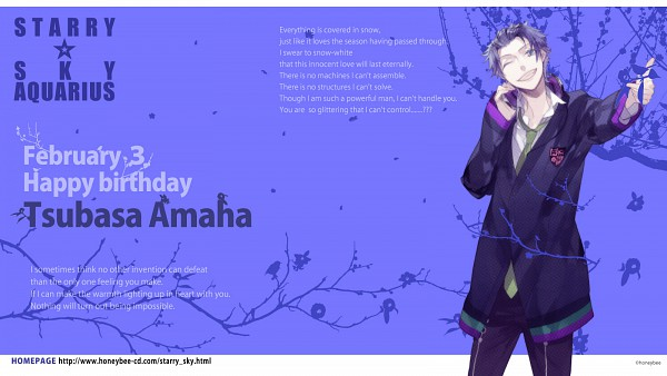 Tags: Anime, Starry☆Sky~, Amaha Tsubasa, Wallpaper, Facebook Cover, Starry☆Sky ~in Winter~