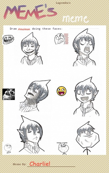 Tags: Anime, Ao no Exorcist, Amaimon, D:<, Troll Face, >:D, Mobile Wallpaper