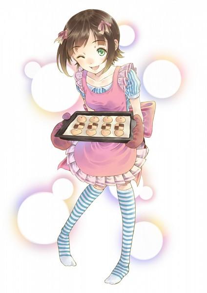 Tags: Anime, Okada Anmitsu, THE iDOLM@STER, Amami Haruka, Mobile Wallpaper