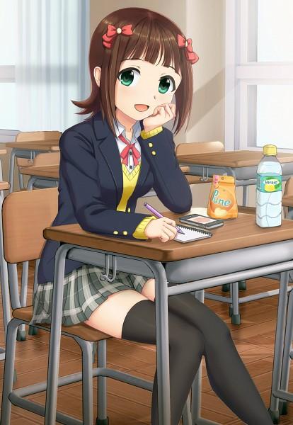 Tags: Anime, Nattsu (Pegimin), THE iDOLM@STER, Amami Haruka, iPhone, Writing, Mobile Wallpaper, Pixiv