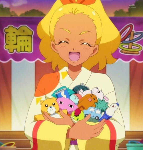 Tags: Anime, Toei Animation, Star☆Twinkle Precure, Amamiya Erena, Toy Car, Stitched Screenshot, Screenshot