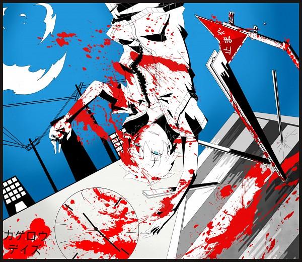 Tags: Anime, Pixiv Id 2031732, Kagerou Project, Amamiya Hibiya, Utility Pole