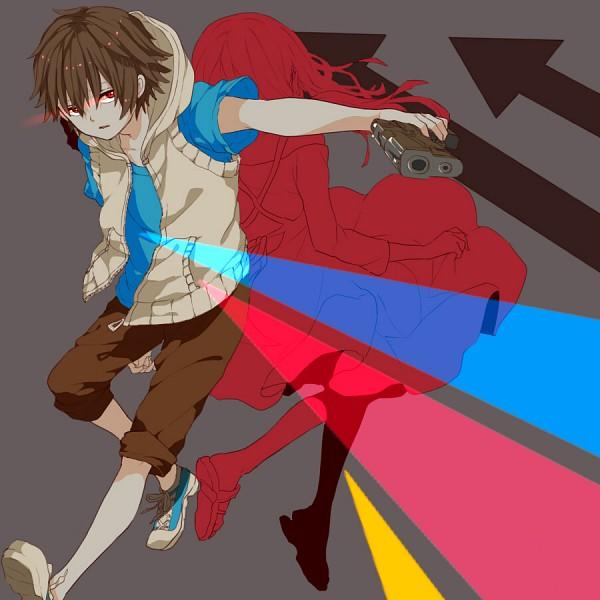 Tags: Anime, Abararack, Kagerou Project, Amamiya Hibiya, Asahina Hiyori, Bright Colors, Fanart, Fanart From Pixiv, Pixiv, HibiHiyo