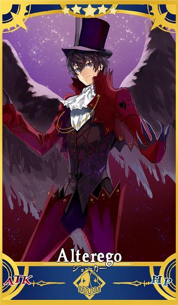 Tags: Anime, Cezaria, Shin Megami Tensei: PERSONA 5, Amamiya Ren (Persona 5), Arsène (Persona 5) (Cosplay), Fate/Grand Order (Parody), Fanart From Pixiv, Pixiv, Fanart