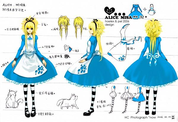 Tags: Anime, Alice in Wonderland, DEATH NOTE, Amane Misa, White Cat, Artist Request, Misa Amane
