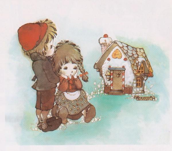 Tags: Anime, Amano Yoshitaka, Hansel and Gretel, Imagine, Hansel, Gretel, Gingerbread House