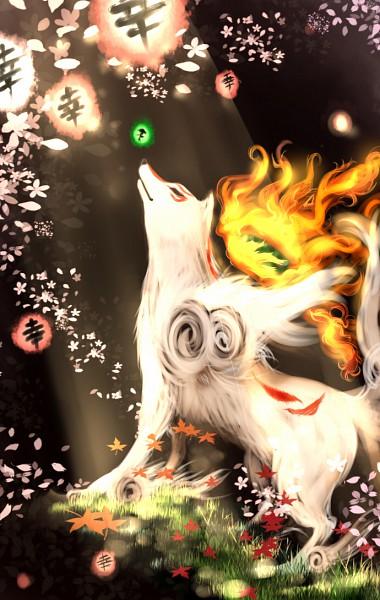 Tags: Anime, Okami, Issun-Boshi, Amaterasu, Divine Retribution, Fanart, Artist Request