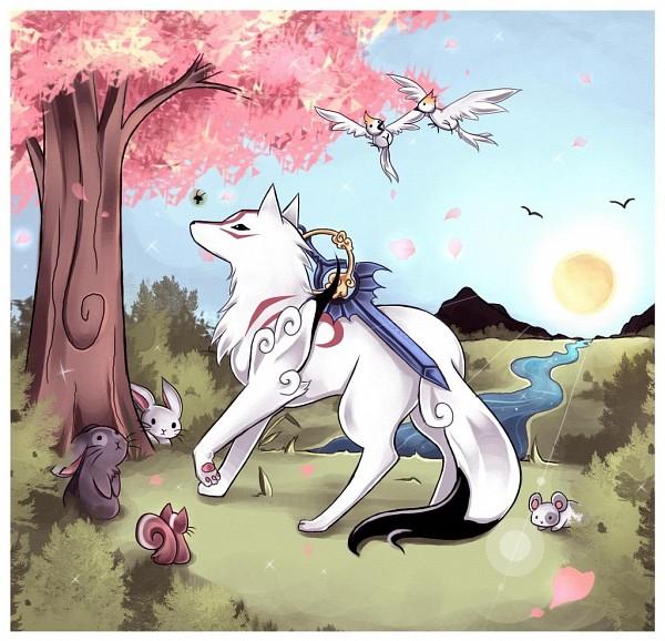 Tags: Anime, Midna01, Okami, Issun-Boshi, Amaterasu, Squirrel, Fanart, deviantART, Fanart From DeviantART