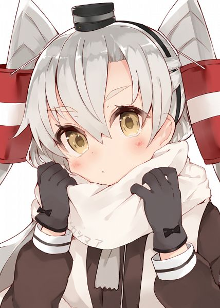 Tags: Anime, Kou Mashiro, Kantai Collection, Amatsukaze (Kantai Collection), PNG Conversion, Mobile Wallpaper