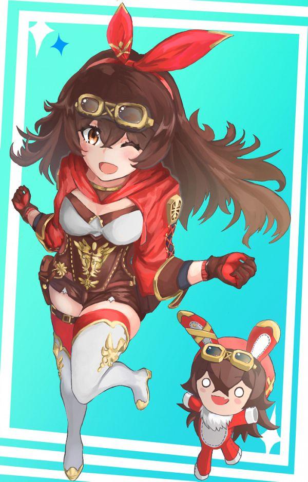 Tags: Anime, Pixiv Id 19055182, Genshin Impact, Amber (Genshin Impact), Brown Shorts, Explosive Puppet, Fanart, Fanart From Pixiv, Pixiv