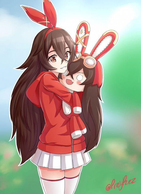 Tags: Anime, Pixiv Id 49091943, Genshin Impact, Amber (Genshin Impact), Red Jacket, Explosive Puppet, Fanart, Fanart From Pixiv, Pixiv