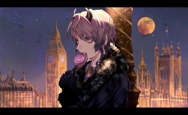 Tags: Anime, Pixiv Id 10436378, Hypnosis Mic -Division Rap Battle-, Amemura Ramuda, Westminster, Big Ben, Devil Costume, Clock Tower, Fanart