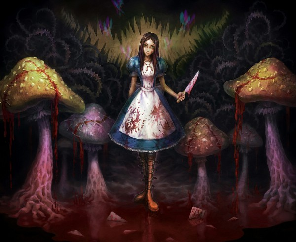 Tags: Anime, Pixiv Id 12216, American McGee's Alice: Madness Returns, American McGee's Alice, Alice (American McGee's), Blood On Weapons, Pixiv