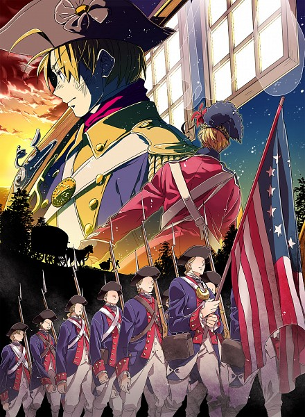 Tags: Anime, Runko, Axis Powers: Hetalia, United Kingdom, United States, Soldier, Fanart, Fanart From Pixiv, Pixiv, American Revolutionary War, Allied Forces