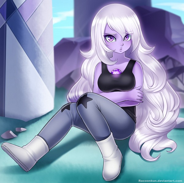 Tags: Anime, Pixiv Id 1195294, Steven Universe, Amethyst (Steven Universe), Purple Gem, Purple Skin, Fanart, Fanart From Pixiv, Pixiv