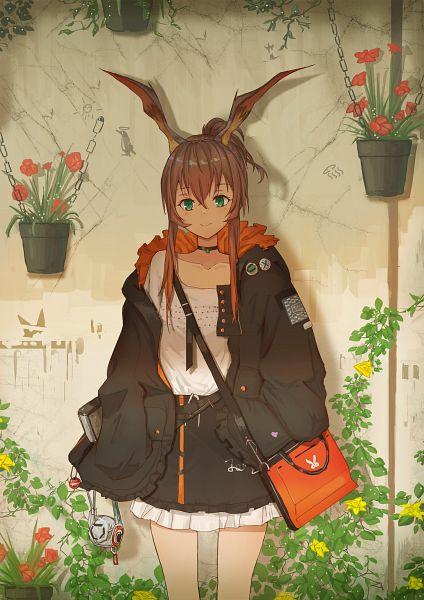 Tags: Anime, Aer7o, Arknights, Amiya, Handbag, Pins, Potted Plant, Fanart From Pixiv, Fanart, Pixiv