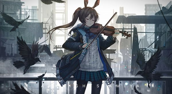 Tags: Anime, Pixiv Id 14795980, Arknights, Amiya, Playing Violin, Pixiv, Fanart, Fanart From Pixiv