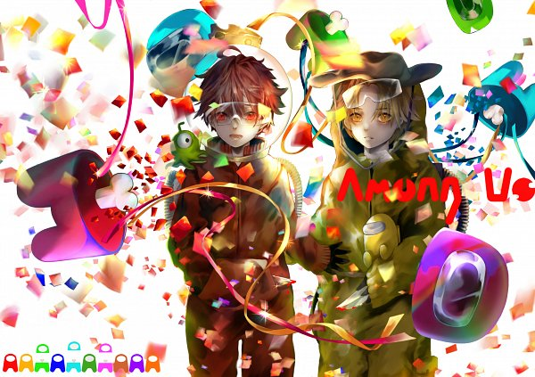 Tags: Anime, Hatey Hatety, Among Us, Among Us (Character), 2480x1748 Wallpaper, Space Suit, Cheese, Wallpaper, Fanart From Pixiv, Fanart, Pixiv