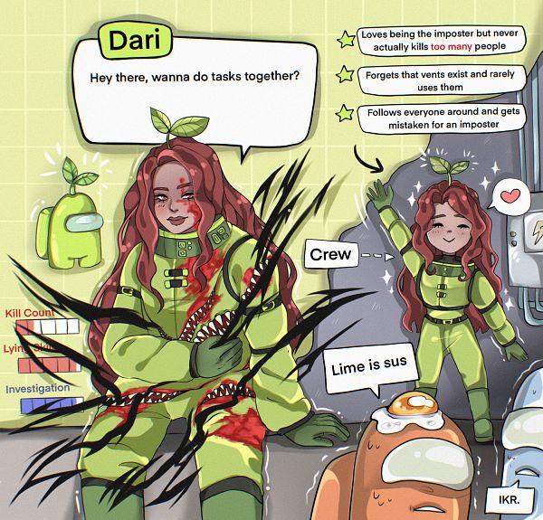 Tags: Anime, Darin.Ai, Among Us, Among Us (Character), Space Suit
