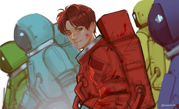 Tags: Anime, Mstrmagnolia, Among Us, Among Us (Character), Space Suit, Twitter