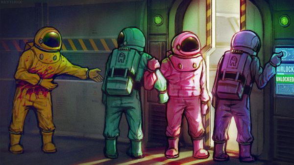 Tags: Anime, Neytirix, Among Us, Among Us (Character), Space Suit, Spaceship, deviantART, Fanart, Fanart From DeviantART