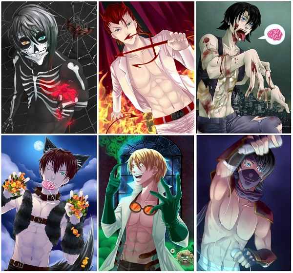 Tags: Anime, ChiNoMiko, Amour Sucré, Nathaniel (Amour Sucré), Castiel (Amour Sucré), Lysandre (Amour Sucré), Armin (Amour Sucre), Kentin (Amour Sucré), Werewolf, My Candy Love