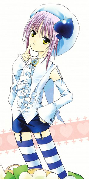 Tags: Anime, PEACH-PIT, Shugo Chara! Illustrations 2, Amulet Spade, Hinamori Amu, Scan, Official Art