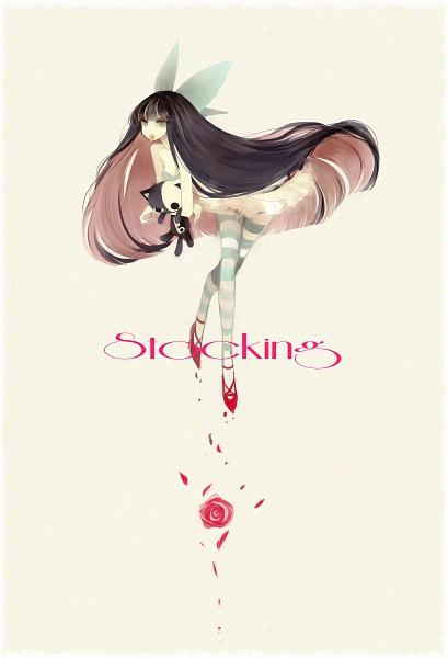 Tags: Anime, Himehi, Panty and Stocking With Garterbelt, Honekoneko, Anarchy Stocking, Mobile Wallpaper, Pixiv, Fanart