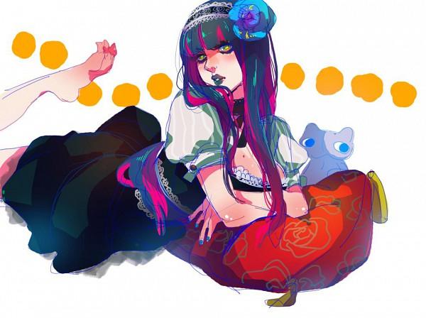 Tags: Anime, Panty and Stocking With Garterbelt, Anarchy Stocking, Honekoneko, Black Lips