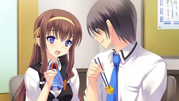 Tags: Anime, Praline, Anata no Koto o Suki to Iwasete, Wakamiya Kousuke, Fujikura Yukino, Wallpaper, CG Art