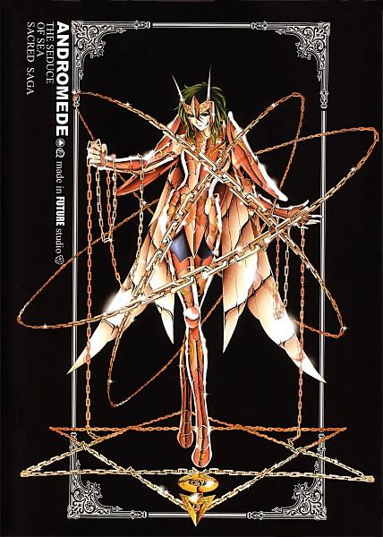 Tags: Anime, Future Studio, Saint Seiya, Sacred Saga, Andromeda Shun, Mobile Wallpaper, Bronze Saints
