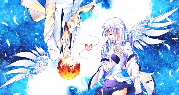 Tags: Anime, Pixiv Id 2047043, Angel Beats!, Otonashi Yuzuru, Tachibana Kanade, Facebook Cover