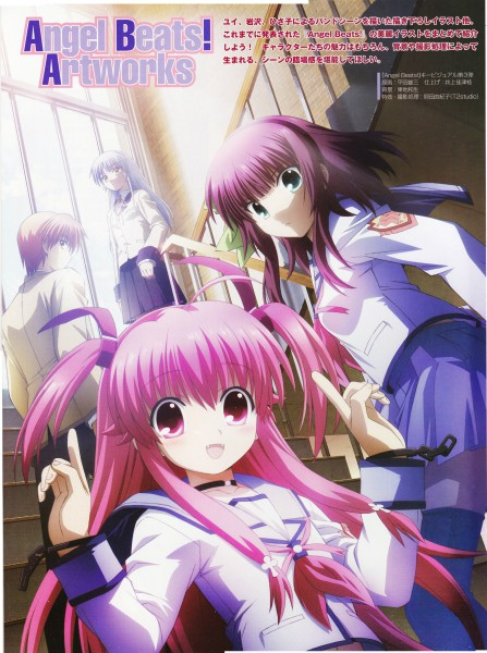 Tags: Anime, Hirata Katsuzou, P.A. Works, Angel Beats!, Yui (Angel Beats!), Tachibana Kanade, Nakamura Yuri, Otonashi Yuzuru, Official Art