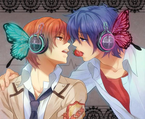 Tags: Anime, Zhuo Mi, Angel Beats!, Otonashi Yuzuru, Hinata Hideki, Sharing Food, Magnet