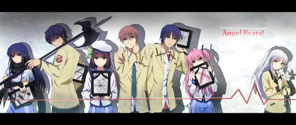 Tags: Anime, Sakamuke, Angel Beats!, Yui (Angel Beats!), Tachibana Kanade, Otonashi Yuzuru, Hinata Hideki, Noda (Angel Beats!), Nakamura Yuri, Shiina Eri, Heartbeat, Facebook Cover