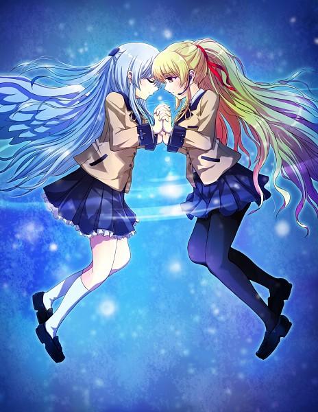 Tags: Anime, Pixiv Id 63422, Angel Beats!, Tachibana Kanade, Yusa (Angel Beats!), Pixiv, Fanart From Pixiv, Fanart