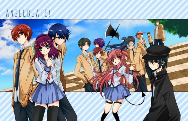 Tags: Anime, Usagi Suna, Angel Beats!, Shiina Eri, Matsushita (Angel Beats!), Fujimaki, Yui (Angel Beats!), Otonashi Yuzuru, Takamatsu (Angel Beats!), Hinata Hideki, Naoi Ayato, Noda (Angel Beats!), Nakamura Yuri