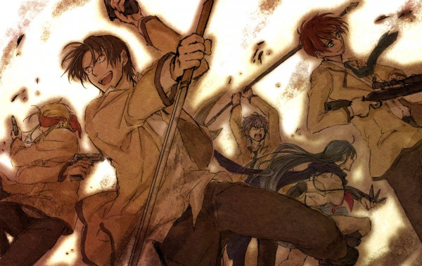 Tags: Anime, Robata, Angel Beats!, Shiina Eri, TK (Angel Beats!), Fujimaki, Noda (Angel Beats!), Ooyama (Angel Beats!), Pixiv