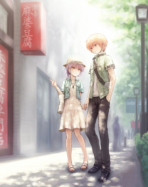 Tags: Anime, Kuinji 51go, Angel Beats!, Tachibana Kanade, Otonashi Yuzuru, Fanart From Pixiv, Pixiv, Fanart